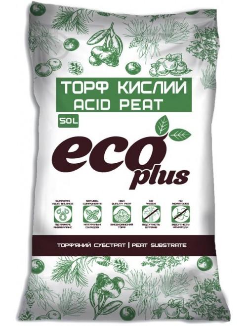 Субстрат Eco Plus Торф кислий 20л (7кг)